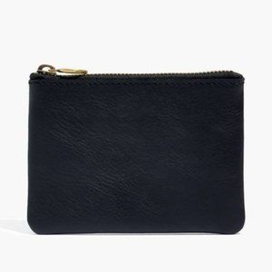 [NWT] Madewell The Leather Pouch Wallet in Black